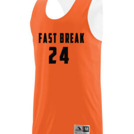 Reversible Practice Jersey with Fast Break on Front & Player Number Front & Back Included.